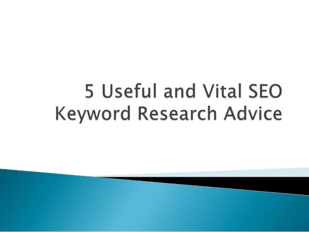 1) Select and finalize the keywords you want to target.