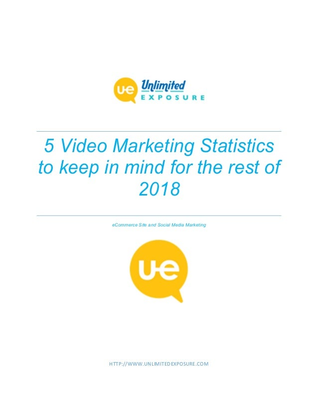 5 Video Marketing Statistics to keep in mind for the rest of 2018 eCommerce Site and Social Media Marketing HTTP://WWW.UNL...