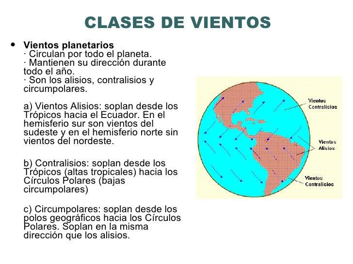 3 CLASES DE VIENTOS