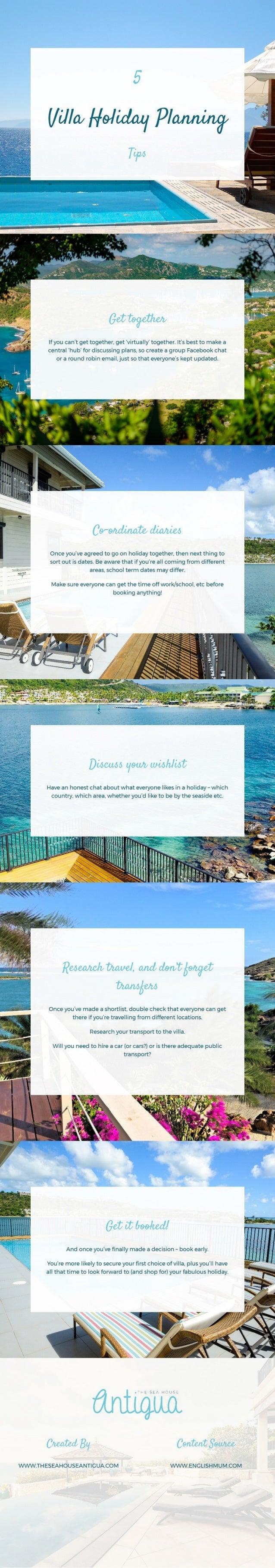 5 villa holiday planning tips