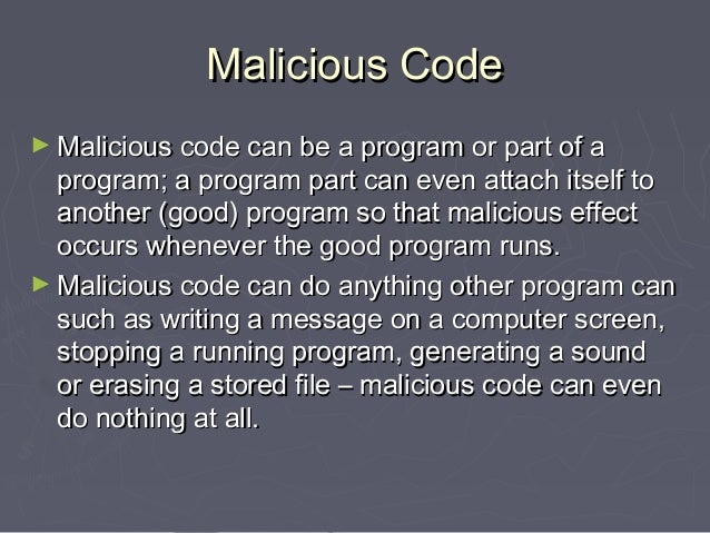 Virus and Malicious Code Chapter 5