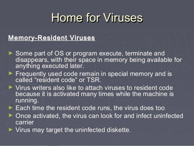 how to remove memory resident virus