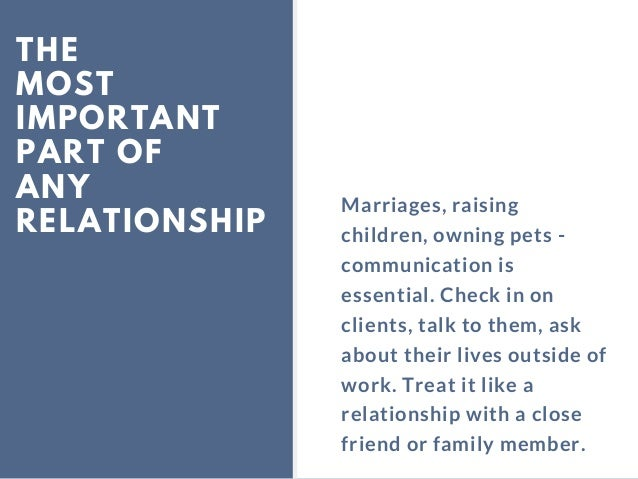 THE MOST IMPORTANT PART OF ANY RELATIONSHIP Marriages, raising children, owning pets - communication is essential. Check i...