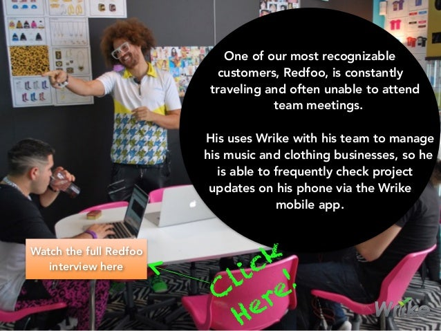 One of our most recognizable customers, Redfoo, is constantly traveling and often unable to attend team meetings. His uses...