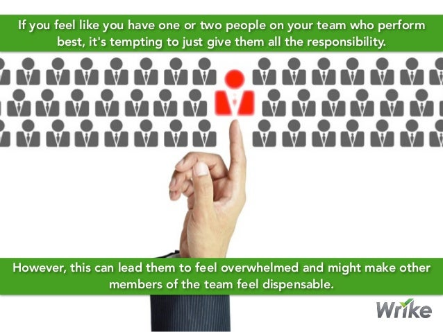If you feel like you have one or two people on your team who perform best, it's tempting to just give them all the respons...