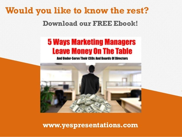 5 ways marketing managers leave money on the table and under serve th the afflictions consequences 18 fandeluxe Ebook collections