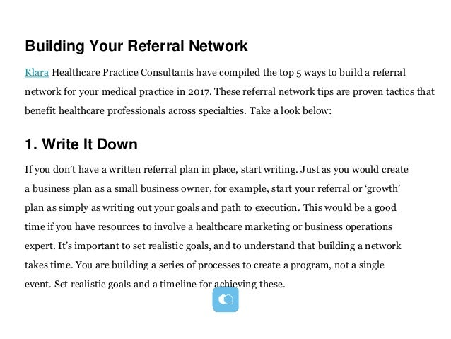 5 ways to build a referral network for your medical practice medical practice 2 accmission Choice Image