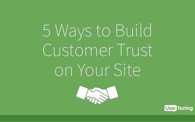 5 Ways to Build Customer Trust on Your Site