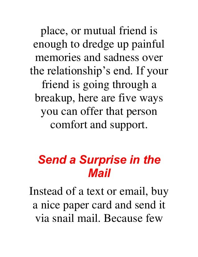 Helping a friend get over a break up