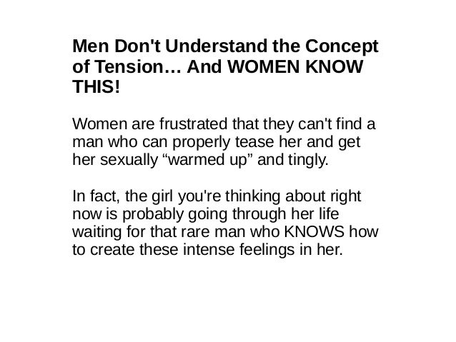 Ways to tease a woman sexually