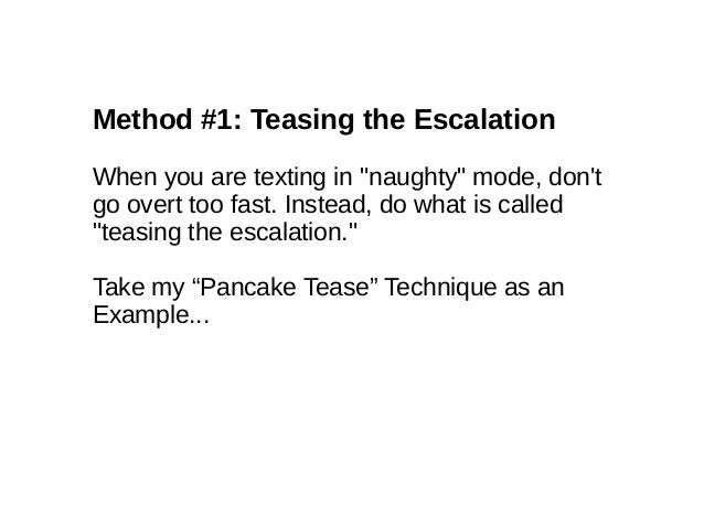 how to escalate sexually