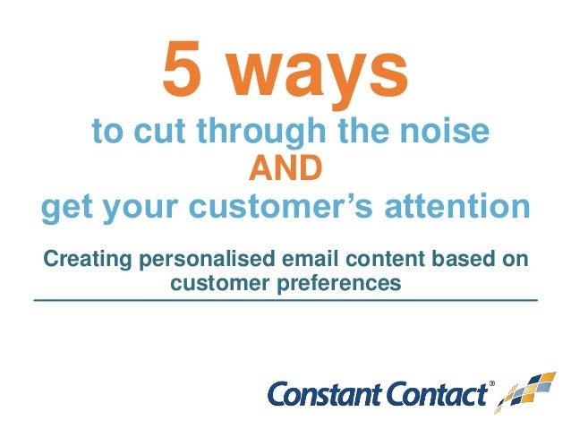 ways to get attention