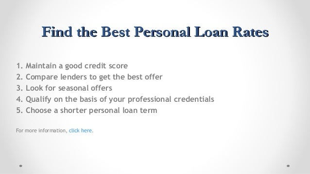 Best Personal Loan Rates >> 5 Ways To Get Best Personal Loan Interest Rate