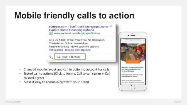 Mobile friendly calls to action • Changed mobile layout and call to action to account for calls • Tested call to actions (...