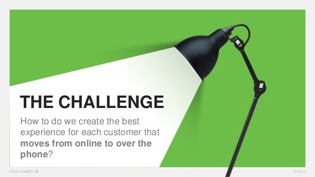 THE CHALLENGE How to do we create the best experience for each customer that moves from online to over the phone?