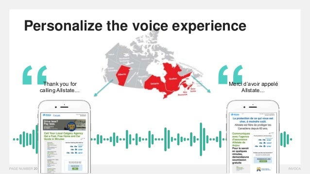 """"""""""" Personalize the voice experience Merci d'avoir appelé Allstate… Thank you for calling Allstate…"""