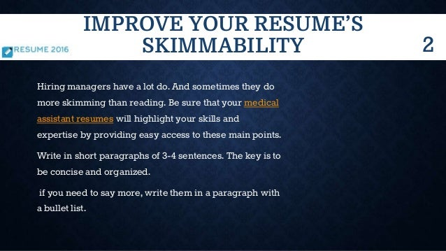 5 ways to improve your resume in 2016