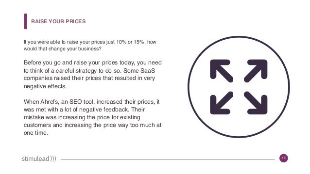 15 If you were able to raise your prices just 10% or 15%, how would that change your business? Before you go and raise you...