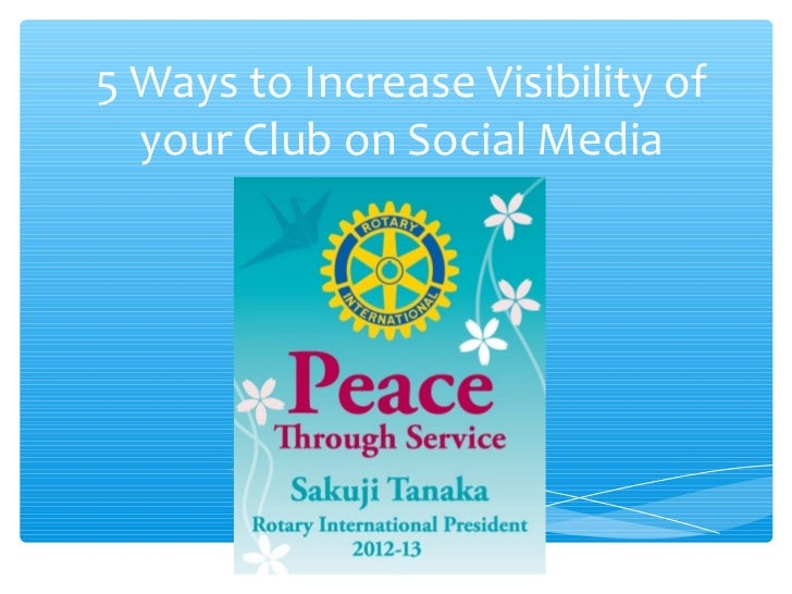 5 Ways to Increase Visibility of  your Club on Social Media