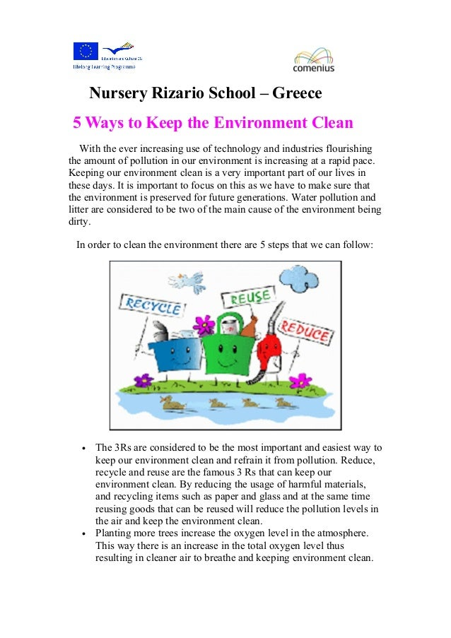 500 word essay save our environment