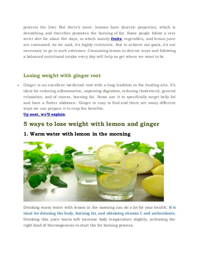 5 ways to lose weight using lemon and ginger ccuart Images