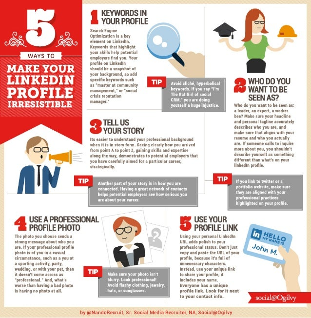 5 Ways to Make Your #LinkedIn Profile Irresistible