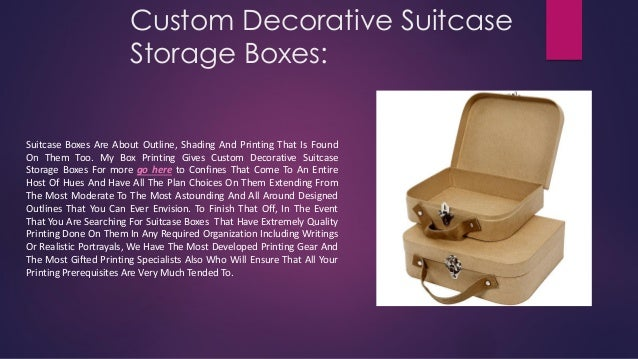 Custom Decorative Suitcase Storage Boxes: Suitcase Boxes Are About Outline, Shading And Printing That Is Found On Them Too...