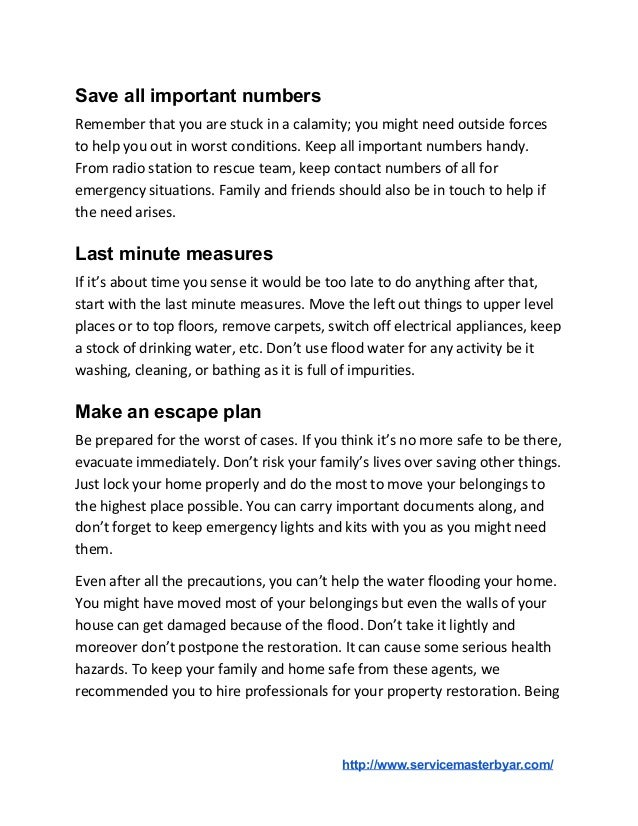 5 Ways To Prevent Damage from Flooding Slide 2