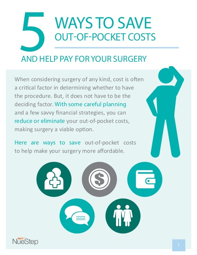 5WAYSTO SAVE OUT-OF-POCKET COSTS AND HELP PAY FORYOUR SURGERY deciding factor. With some careful planning reduce or elimin...