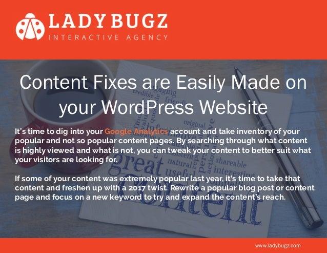 5 Ways to Show Your Wordpress Website a Little Love Slide 2
