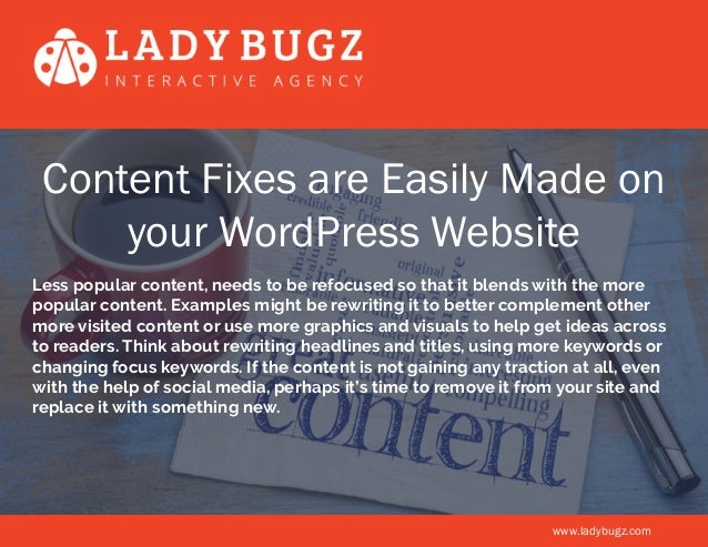5 Ways to Show Your Wordpress Website a Little Love Slide 3