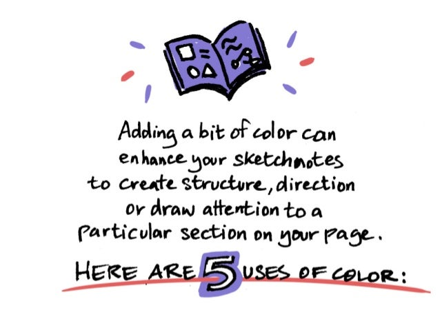 5 Ways To Use Color in Sketchnotes
