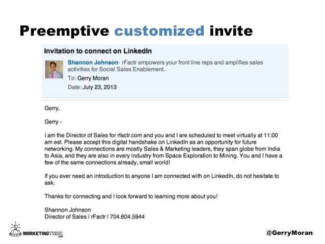 5 ways to use linkedin invites preemptive customized invite gerrymoran stopboris
