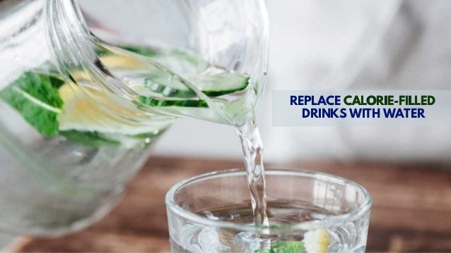 REPLACE CALORIE-FILLED DRINKS WITH WATER CALORIE-FILLED