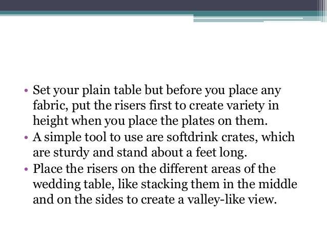 4.  sc 1 st  SlideShare & 5 wedding buffet table setting ideas that work