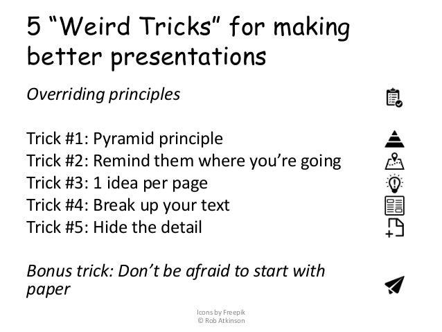5 weird presentation tricks how to make great ppt presentations