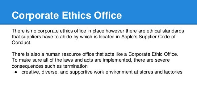 apple code of conduct