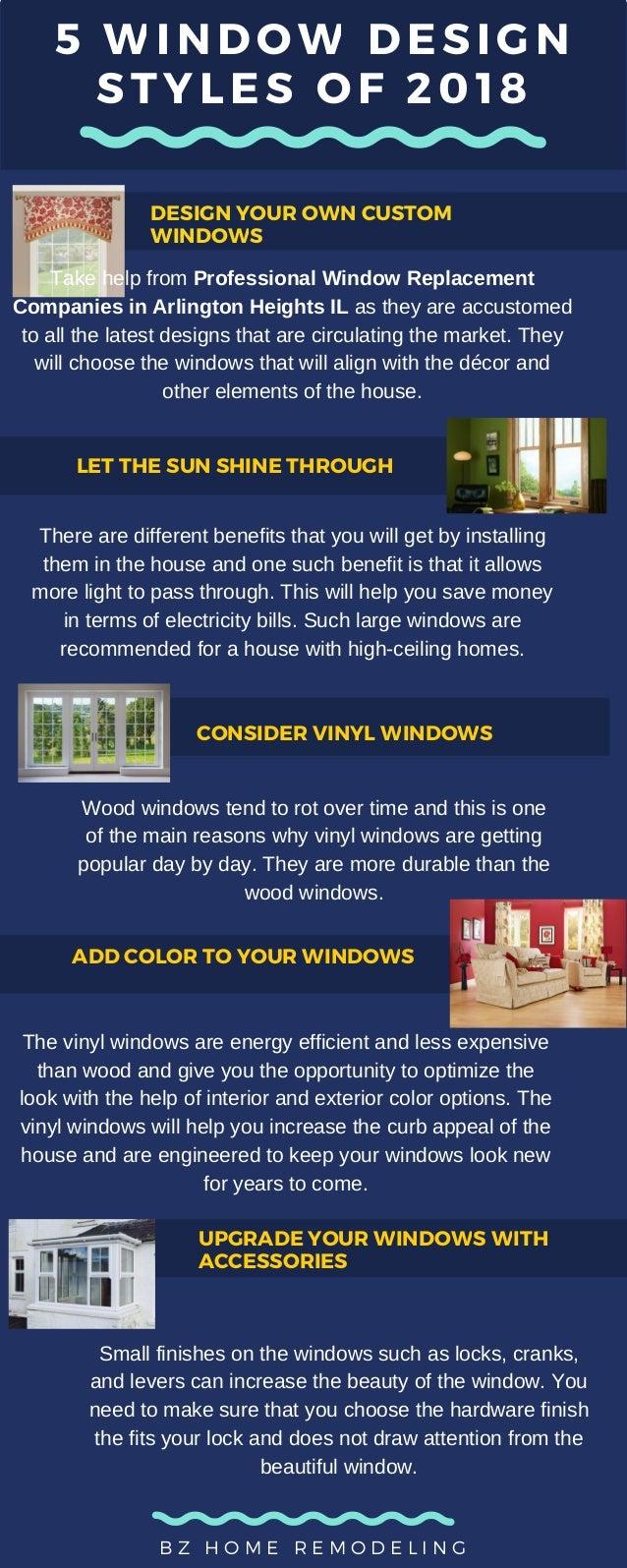 5 window design styles of 2018