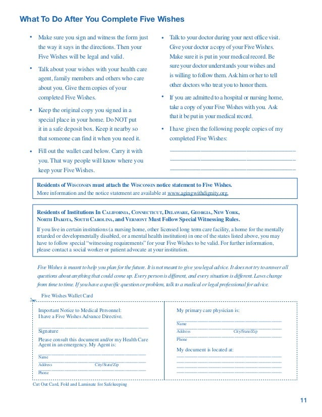 It is a picture of Printable Five Wishes Pdf regarding advance directive