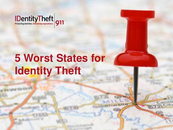 5 Worst States forIdentity Theft