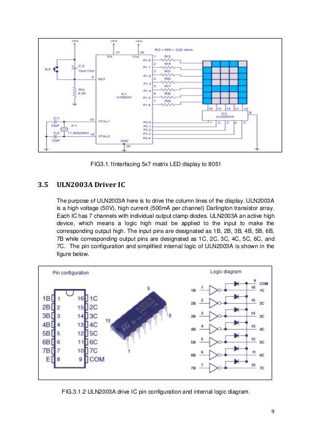 5x7 Matrix Led Display
