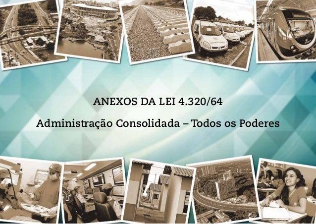 ANEXOS DA LEI 4.320/64 Administração Consolidada – Todos os Poderes