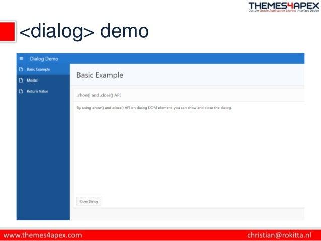 <dialog> demo