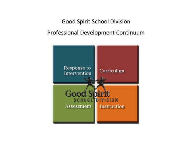 GoodSpiritSchoolDivision ProfessionalDevelopmentContinuum