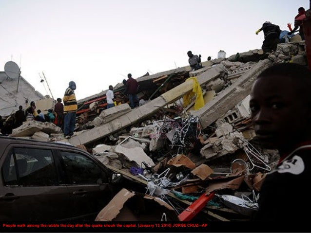 While many rescue workers were involved in aiding the survivors, many were also sent to find bodies, alive or not, among t...