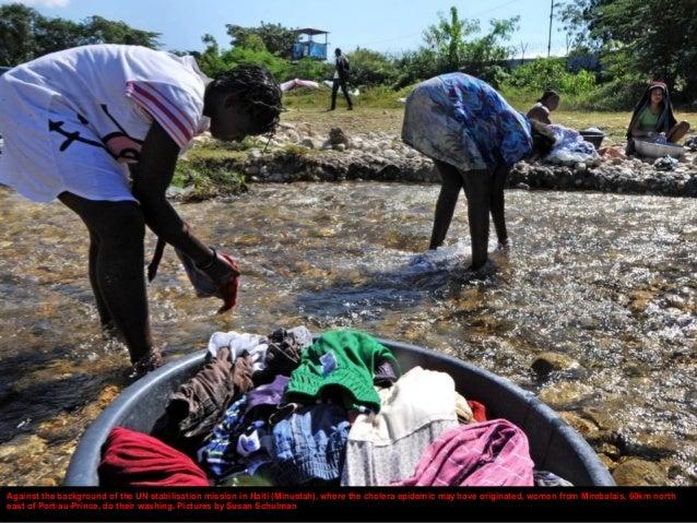 Marie Viergellie Paul, a nurse at the cholera treatment facility in St Nicolas hospital in St Marc, north of Port-au-Princ...