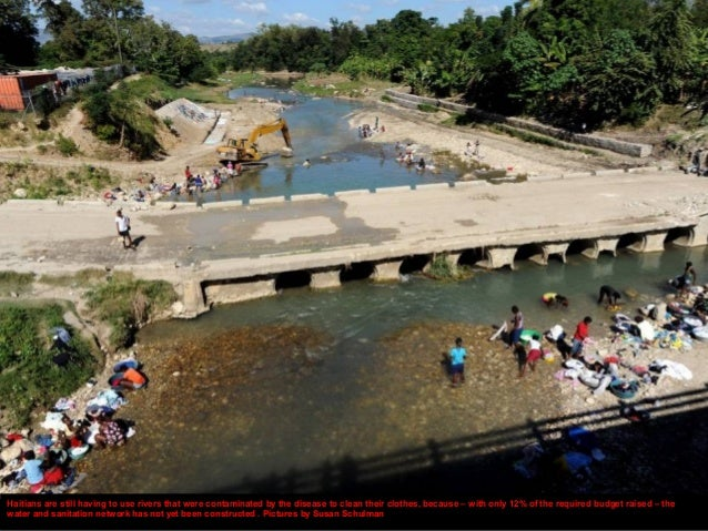 At Camp Acira in Port-au-Prince, which was set up for those displaced by the earthquake, filthy canals crisscross the comp...