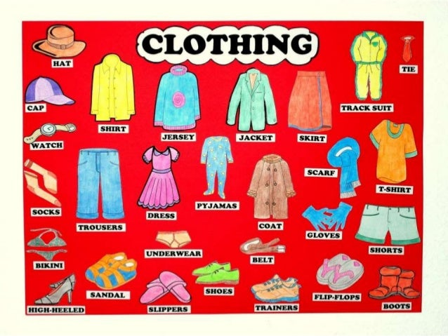 Image result for clothing vocabulary