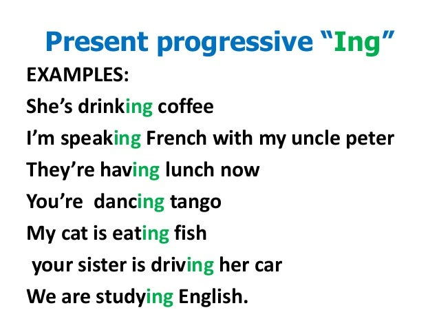 Clothing Vocabulary and present progressive tense-