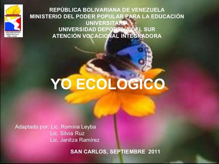 REPÚBLICA BOLIVARIANA DE VENEZUELA MINISTERIO DEL PODER POPULAR PARA LA EDUCACIÓN UNIVERSITARIA UNIVERSIDAD DEPORTIVA DEL ...